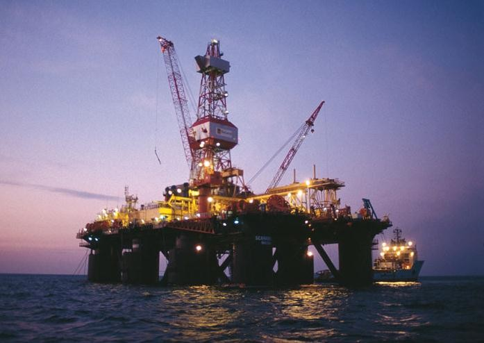 Global SantaFe drilling rig - Gulf of Thailand